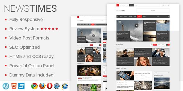 NewsTimes Premium WordPress Themes FREE Download 2020