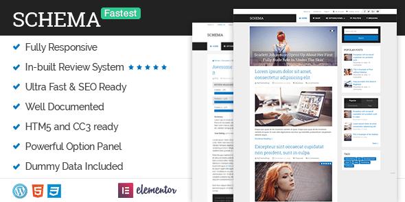 Fastest SEO WordPress Theme. Schema Premium WordPress Themes FREE Download 2020